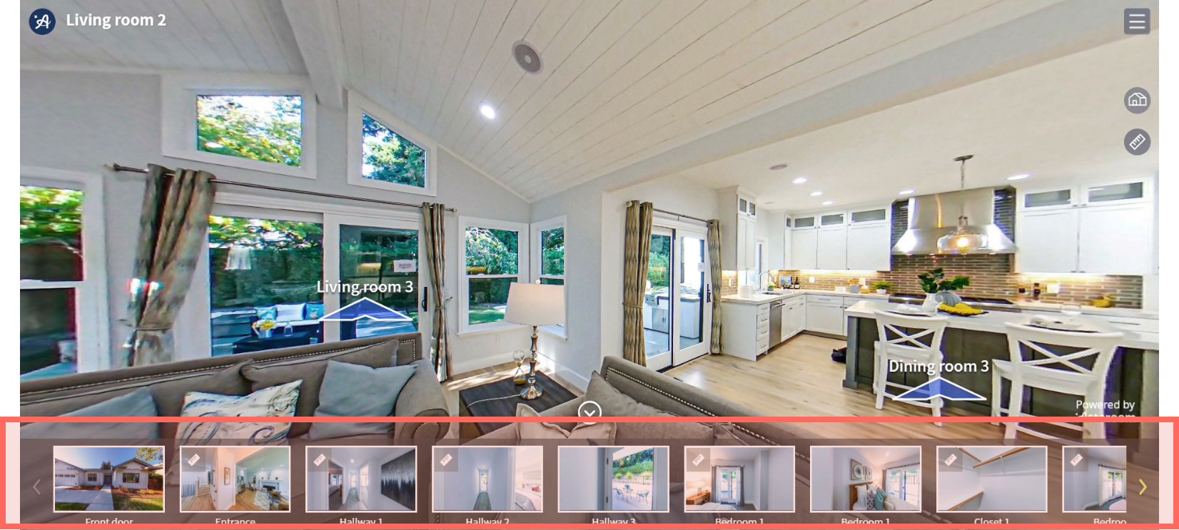 virtual tour navigation bar